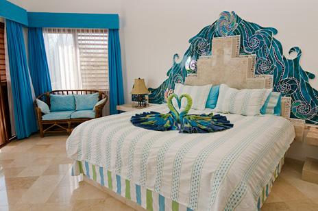 Bedroom #2  at Villa Yardena  luxury Vacation Rental villa on Soliman Bay
