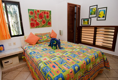 Bedroom #4  at Villa Yardena Vacation Rental beach home on Soliman Bay