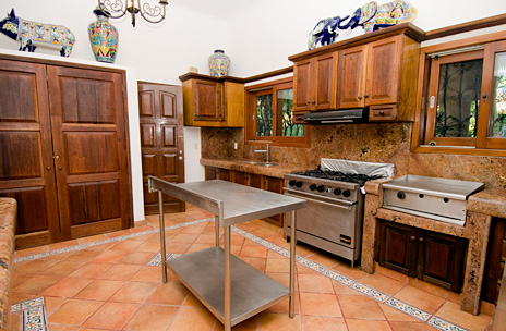 Kitchen at Villa Yardena  luxury Vacation Rental property