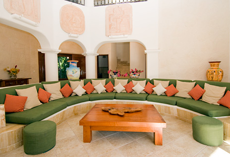 Villa Yardena  Luxury Vacation Rental Home has a circular living area
