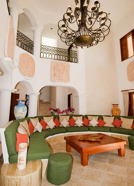 Livingroom  of Yardena Soliman Bay Luxury Vacation Rental Villa