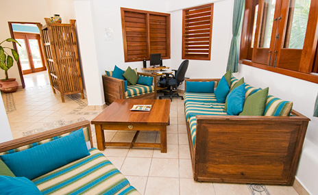 Second floor study at Villa Yardena  luxury Vacation Rental home on Soliman Bay