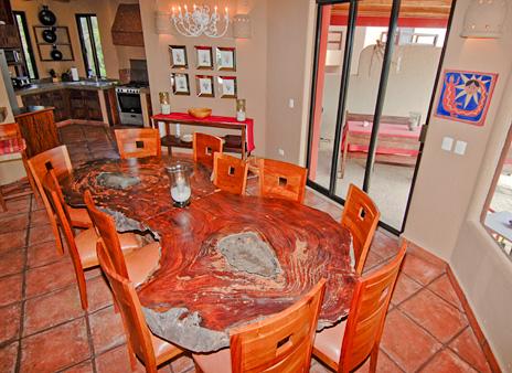 Dining room Zen del Mar Akumal Mexico vacation rental villa